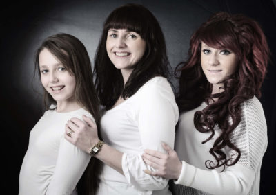 Mother with daughters portrait-3229