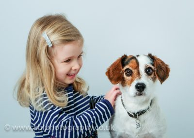 a girl with a dog by ABL Photography