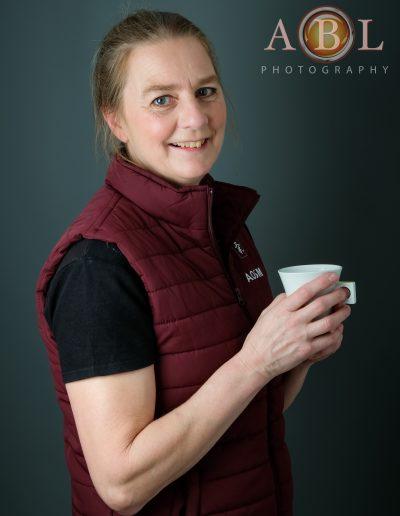 Pauline with a mug-4815