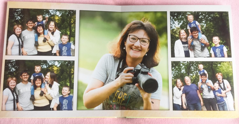 Album Design Service - Family photo-book spread example