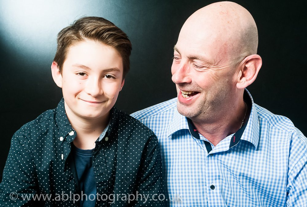 Father and Son Portrait Session